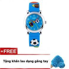 Giá bán Đồng Hồ cho bé trai Dây Cao Su SKMEI 1047C (Xanh) + quà tặng