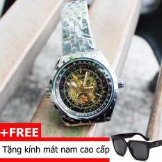 Đồng Hồ Cơ Automatic Nam Day Hợp Kim Jaragar 1001 Jaragar Rẻ Trong Vietnam