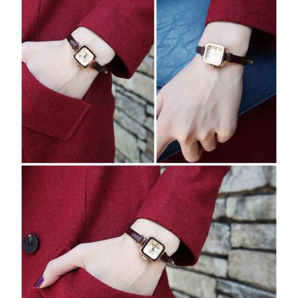 Đồng hồ dây da mặt nhỏ DHD01N