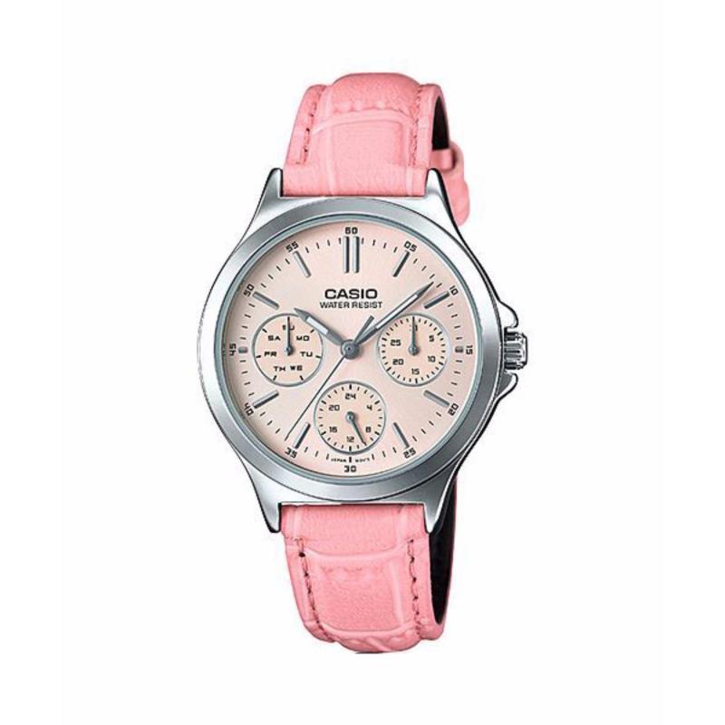 Nơi bán Đồng hồ dây da nữ hiệu Casio LTP-V300L-4AUDF (Hồng)