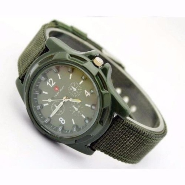 đồng hồ dây dù thể thao GL012 ( xanh)