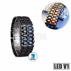 Hình ảnh Đồng hồ dây kim loại mạnh mẽ LED V1 (Đen)