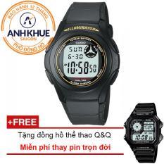 Đồng Hồ Day Nhựa Huyền Thoại Casio Anh Khue F 200W 9Adf Tặng Đồng Hồ Thể Thao Q Q Casio Rẻ Trong Vietnam