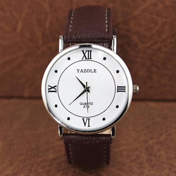 Đồng hồ đeo tay nam dây da Yazole AL040_BRWH6498
