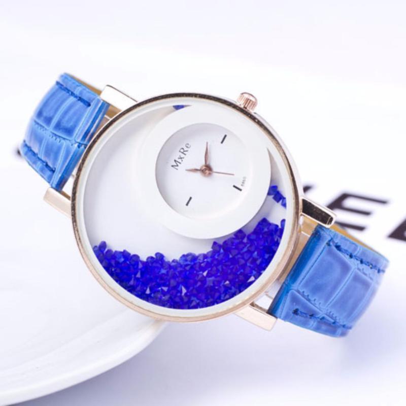 Đồng hồ đeo tay nữ dây giả da MxRe ZA033_BU0011