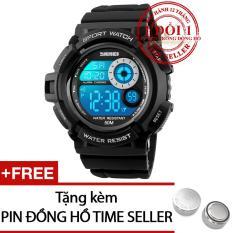Chiết Khấu Đồng Hồ Điện Tử Day Nhựa Sport Watch 2017 Skmei Dg1222 Tặng 01 Pin Time Seller