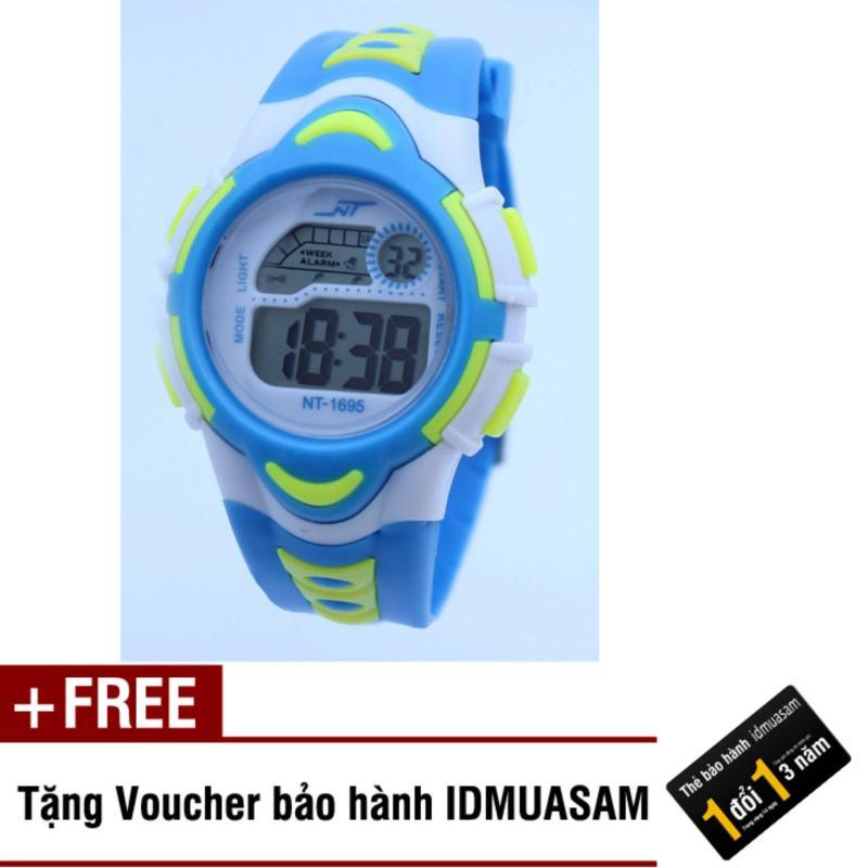Nơi bán Đồng hồ điện tử trẻ em IDMUASAM 7895 (Xanh ngọc) + Tặng kèm voucher bảo hành IDMUASAM