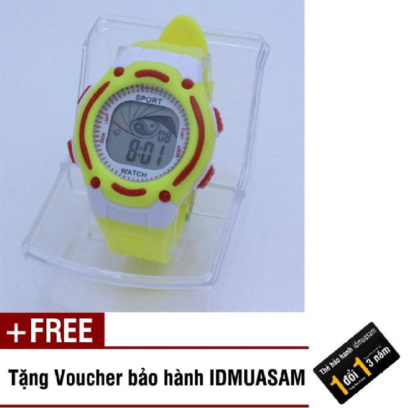 Nơi bán Đồng hồ điện tử trẻ em IDMUASAM S0833 (Vàng) + Tặng kèm voucher bảo hành IDMUASAM