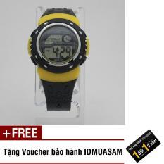 Nơi bán Đồng hồ điện tử trẻ em IDMUASAM S1432 (Vàng) + Tặng kèm voucher bảo hành IDMUASAM