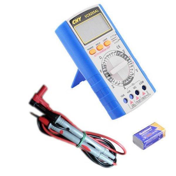 Đồng hồ đo điện - điện tử dành cho kỹ thuật CHY VC-9205AL (Xanh phối xám)
