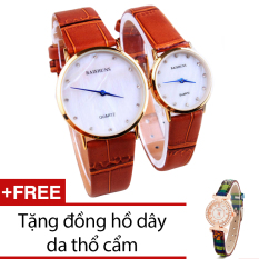 Giá Bán Đồng Hồ Đoi Day Da Bewatch Nau Tặng Kem 1 Đồng Hồ Day Da Thổ Cẩm Mới Rẻ