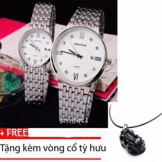Mua Đồng Hồ Đoi Day Inox Cao Cấp Baishuns Dba98 Tặng Kem Vong Cổ Tỳ Hưu Trực Tuyến Rẻ