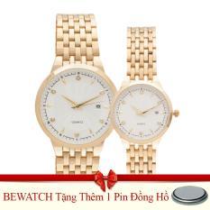 Đồng Hồ Đoi Day Kim Loại Be Watch Bs1741 Vang Tặng Kem 01 Vien Pin Bewatch Chiết Khấu 50