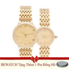 Mua Đồng Hồ Đoi Day Kim Loại Be Watch Bs1742 Vang Tặng Kem 01 Vien Pin Trực Tuyến Rẻ