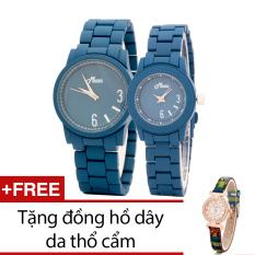 Bán Đồng Hồ Đoi Day Kim Loại Bewatch Xanh Tặng Kem 1 Đồng Hồ Day Da Thổ Cẩm Bewatch