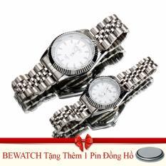 Bán Đồng Hồ Đoi Day Kim Loạitặng Kem 01 Vien Pin Bewatch Có Thương Hiệu