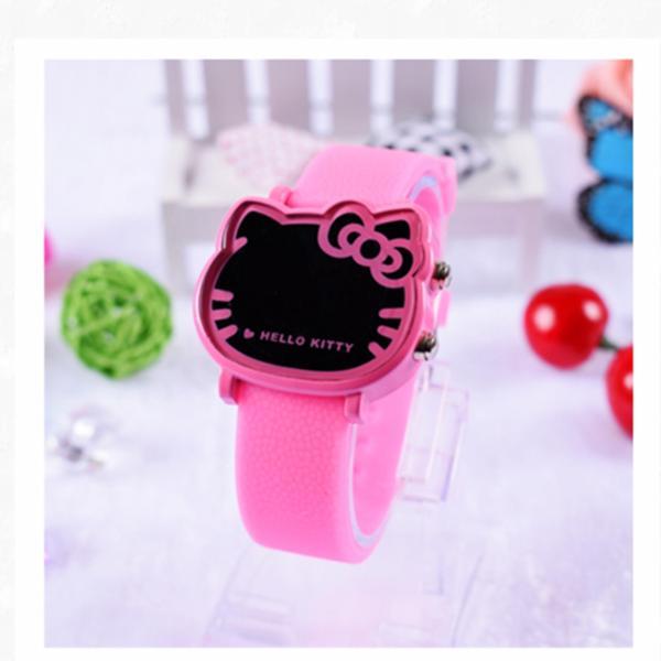 Đồng hồ Helo Kitty, đèn LED đeo tay cho bé gái, phong cách Hàn Quốc bán chạy