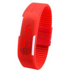 Nơi bán Đồng hồ LED dây silicon kiêm vòng tay (Đỏ)