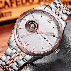 Đồng hồ nam chống nước tốt dây thép không gỉ LONGBO 4756