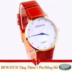 Giá Bán Đồng Hồ Nam Day Da Baishun 15122Kim Nau Tặng Kem 01 Vien Pin Nhãn Hiệu Bewatch