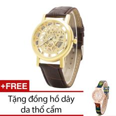 Bán Đồng Hồ Nam Day Da Bewatch Nau Tặng Kem 1 Đồng Hồ Day Da Thổ Cẩm Rẻ Nhất