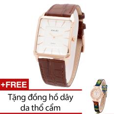 Bán Đồng Hồ Nam Day Da Bewatch Nau Tặng Kem 1 Đồng Hồ Day Da Thổ Cẩm Hà Nội