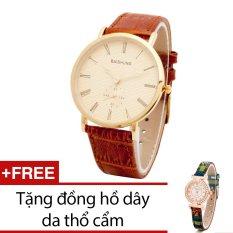 Mua Đồng Hồ Nam Day Da Bewatch Nau Tặng Kem 1 Đồng Hồ Day Da Thổ Cẩm Trực Tuyến Rẻ