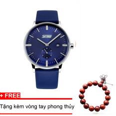 Giá Bán Đồng Hồ Nam Day Da Cao Cấp Skmei 9083 Xanh Tặng Kem Vong Tay Phong Thủy Nguyên