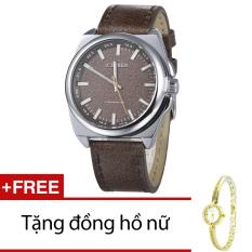 Bán Đồng Hồ Nam Day Da Cr21105 15Na Nau Đen Tặng 1 Đồng Hồ Nữ Trực Tuyến Hà Nội