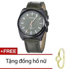 Bán Đồng Hồ Nam Day Da Cr21106 15Na Đen Tặng 1 Đồng Hồ Nữ Curren Nguyên