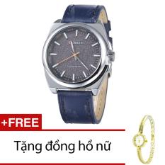 Giá Bán Đồng Hồ Nam Day Da Cr21107 15Na Xanh Đen Tặng 1 Đồng Hồ Nữ Có Thương Hiệu