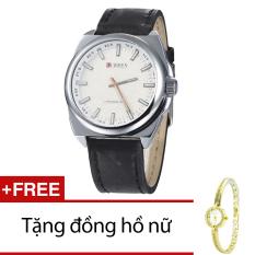 Bán Đồng Hồ Nam Day Da Cr21108 15Na Đen Tặng 1 Đồng Hồ Nữ Curren Trực Tuyến