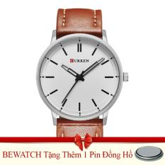 Bán Đồng Hồ Nam Day Da Curren 8233 Nau Tặng Kem 01 Vien Pin Trực Tuyến