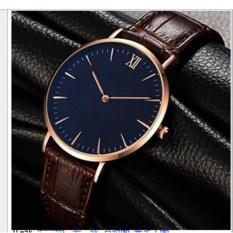 Hình ảnh Đồng hồ nam dây da Geneve PKHRG005-4 (nâu mặt đen)