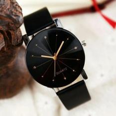 Đồng hồ nam dây da kính 3D S450 (Đen)
