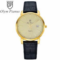 Ôn Tập Đồng Hồ Nam Day Da Mặt Kinh Sapphire Chống Xước Olym Pianus Op130 03Mk Gl V Mới Nhất