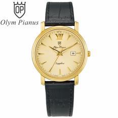 Đồng hồ nam dây da mặt kính sapphire chống xước Olym Pianus OP130-07MK-GL vàng bán chạy