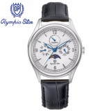Cửa Hàng Đồng Hồ Nam Day Da Mặt Kinh Sapphire Chống Xước Olympia Star Opa98022 00Ms Gl T Trực Tuyến