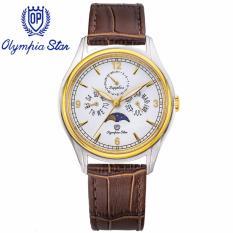 Bán Mua Đồng Hồ Nam Day Da Mặt Kinh Sapphire Chống Xước Olympia Star Opa98022 00Msk Gl T