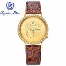Bán Mua Trực Tuyến Đồng Hồ Nam Day Da Mặt Kinh Sapphire Chống Xước Olympia Star Opa58012 07Dmk Gl V