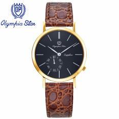 Mua Đồng Hồ Nam Day Da Mặt Kinh Sapphire Chống Xước Olympia Star Opa58012 07Mk Gl D Trực Tuyến Rẻ