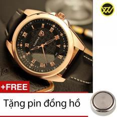 Đồng Hồ Nam Day Da S1029A Tặng 1 Pin Đồng Hồ Nguyên