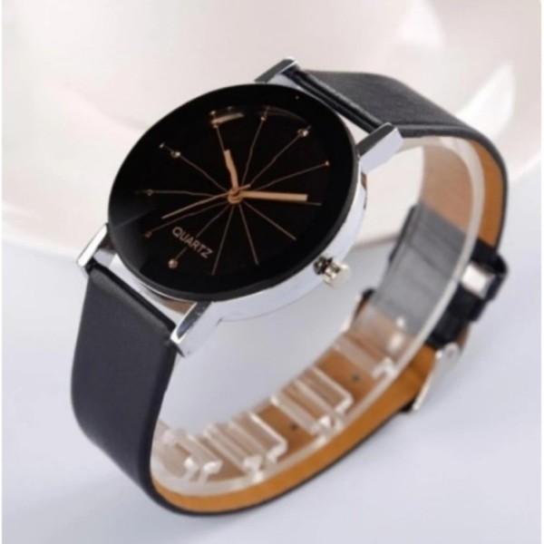 Đồng hồ nam dây da Silicon GE002 (đen kim vàng)