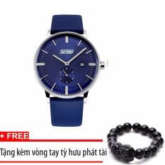 Giá Bán Đồng Hồ Nam Day Da Skmei 9083 Xanh Tặng Kem Vong Tay Tỳ Hưu Trong Hà Nội