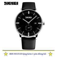 Bán Đồng Hồ Nam Day Da Skmei 9085 2 5 Kim Đen Mới