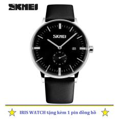 Giá Bán Đồng Hồ Nam Day Da Skmei 9085 2 5 Kim Đen Skmei Trực Tuyến