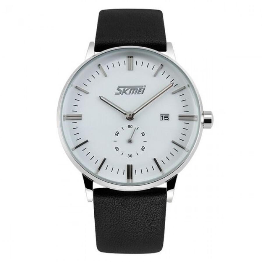 Đồng hồ nam dây da Skmei DHN30 Trắng