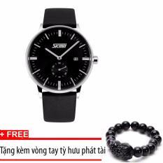 Bán Đồng Hồ Nam Day Da Sml Skmei 9083 Đen Tặng Vong Tay Tỳ Hưu Phat Tai Có Thương Hiệu Rẻ