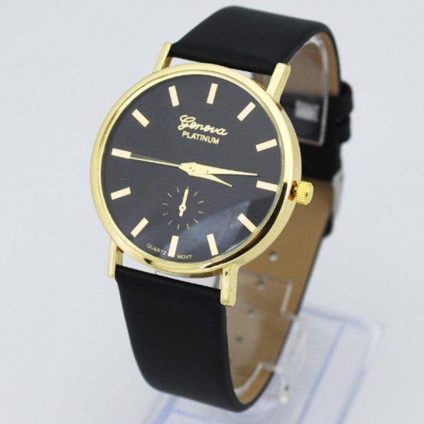 Đồng hồ nam dây da thời trang mới  (Đen)