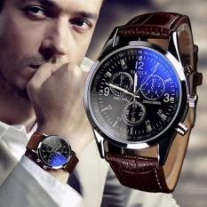 Hình ảnh Đồng hồ nam dây da thời trang YZL - MBAC (Nâu)